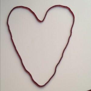 Jewelry - Garnet bead vintage necklace strand